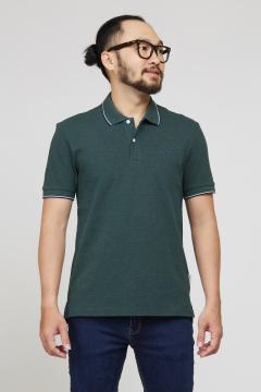 Áo polo nam xanh lá slim fit
