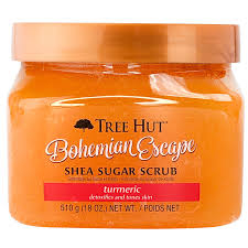 Tẩy tế bào chết Tree Hut Bohemian Escape Shea Sugar Scrub, Orange, 18 Oz