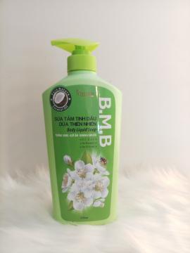 Sữa tắm tinh dầu dừa thiên nhiên  B.M.B 650ml hương dừa