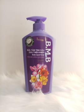 Sữa tắm tinh dầu dừa thiên nhiên  B.M.B 650ml hương hoa lavender