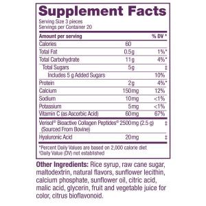 Viên Kẹo Nhai Cải Thiện Nếp Nhăn Mắt Collagen Replenish Chews 60 viên